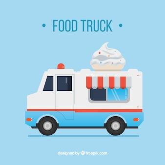 Camioneta vintage de helado