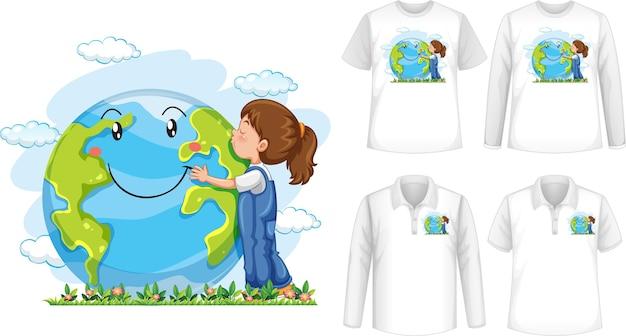 Camisa abrazando el corazón