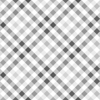 Camisa a cuadros gris diagonal textura de la tela sin costura