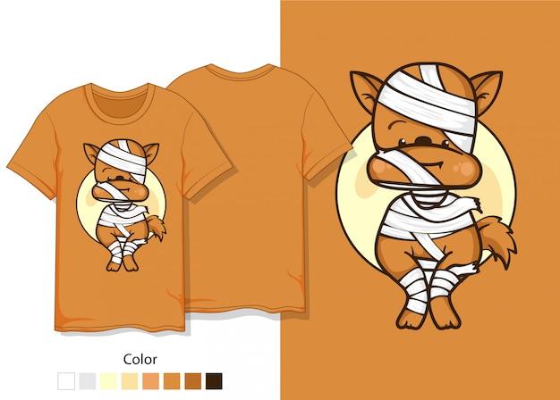 Camisa de diseño momia para perro