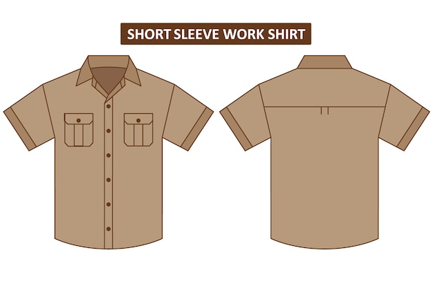 Camisa de manga corta con dos bolsillos en el pecho