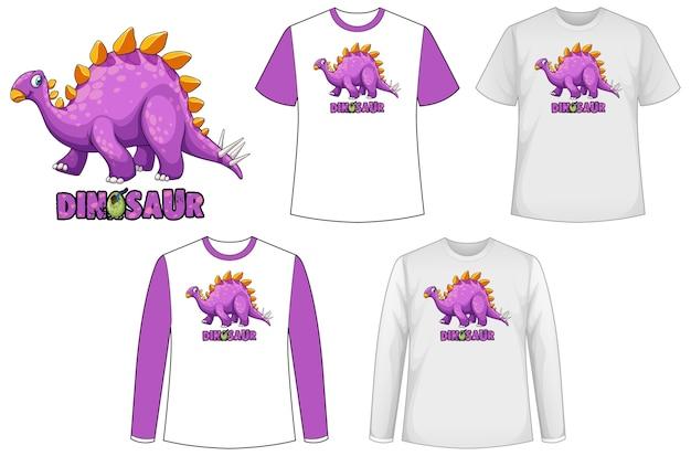 Camisa de plantilla con personaje de dibujos animados de dinosaurio