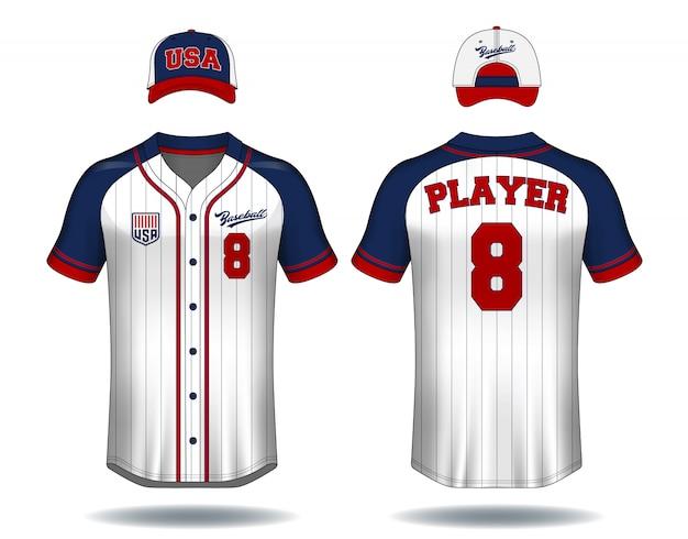 Camiseta de béisbol maqueta.