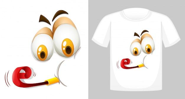 Camiseta con cara graciosa