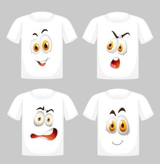 Camiseta con caras en frente