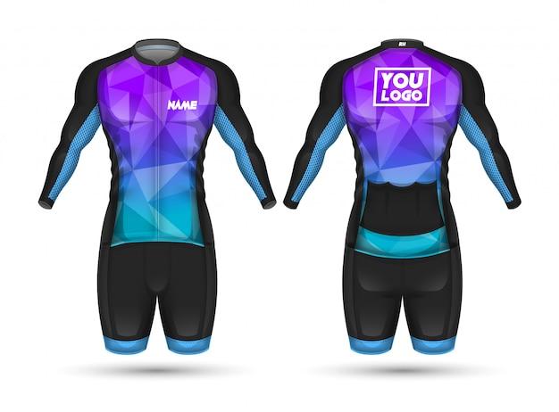Camiseta ciclista de diseño de camiseta.