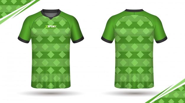 Camiseta de deporte de plantilla de jersey de fútbol