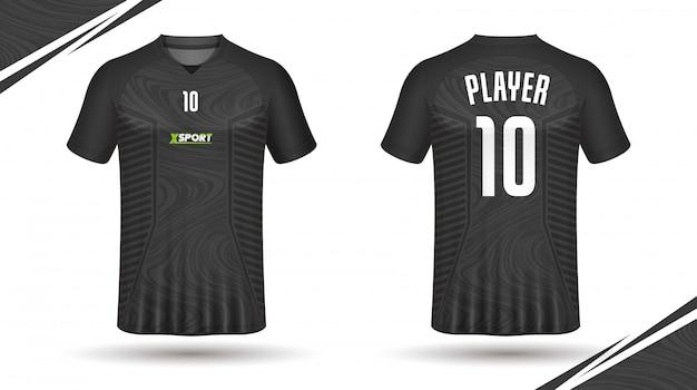 Camiseta deportiva de fútbol jersey template