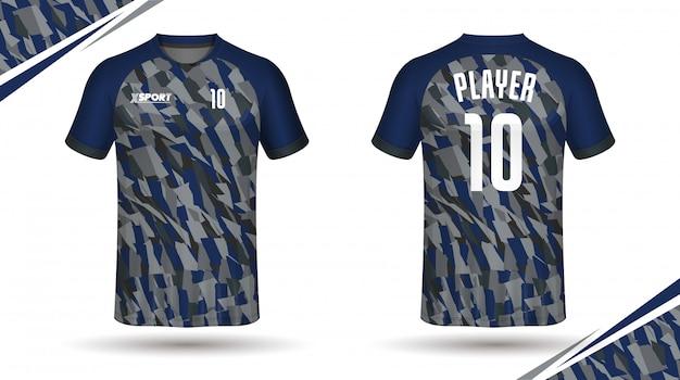 Camiseta deportiva con plantilla de jersey de fútbol