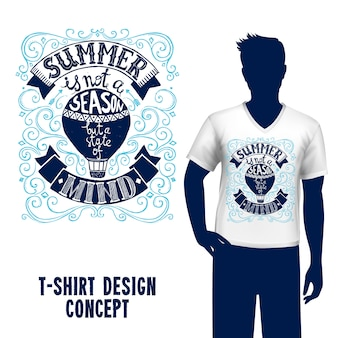 Camiseta de diseño de letras