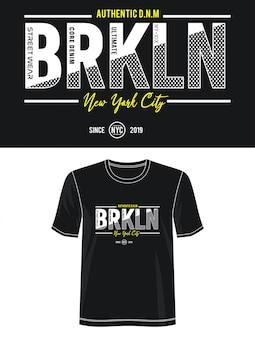 Camiseta con diseño de tipografía de la ciudad de nueva york
