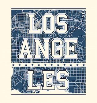 Camiseta estampada de los ángeles con calles de la ciudad