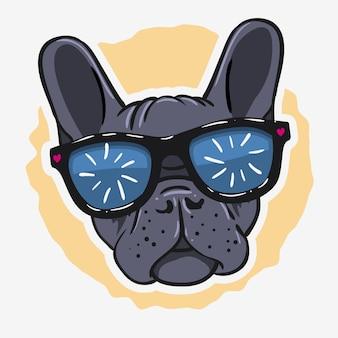 Camiseta con estampado de bulldog francés para camiseta