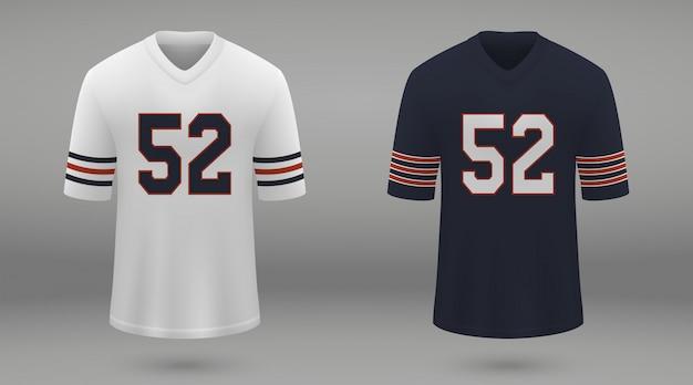 Camiseta de fútbol americano realista