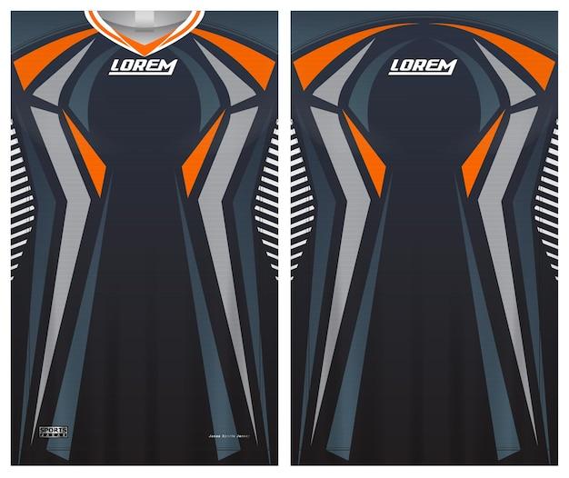 Camiseta de fútbol camiseta deportiva plantilla uniforme delante y detrás