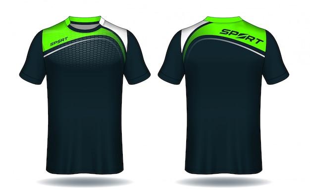 Camiseta de fútbol de camiseta deportiva.