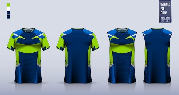 Camiseta de fútbol, kit de fútbol, uniforme de baloncesto o diseño de plantilla de ropa deportiva.