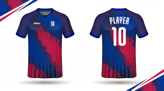 Camiseta de fútbol con plantilla deportiva
