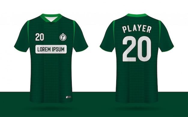 Camiseta de fútbol, plantilla del equipo deportivo delantero y trasero.