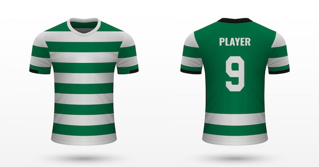 Camiseta de fútbol realista