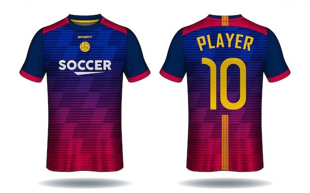 6108fd36fe996 Camiseta de fútbol template.sport diseño de camiseta.