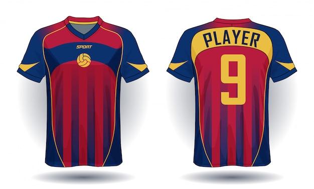 Camiseta de fútbol template.sport diseño de camiseta.