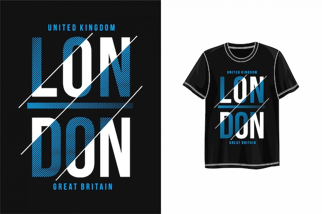 Camiseta gráfica tipografía londres
