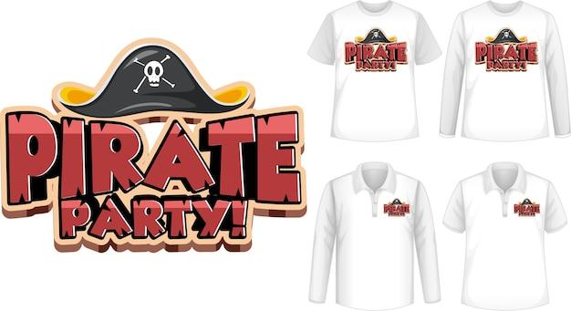 Camiseta con icono de fiesta pirata