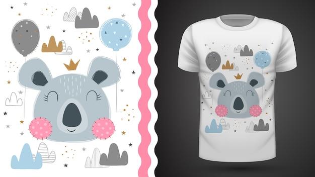 Camiseta linda del koala