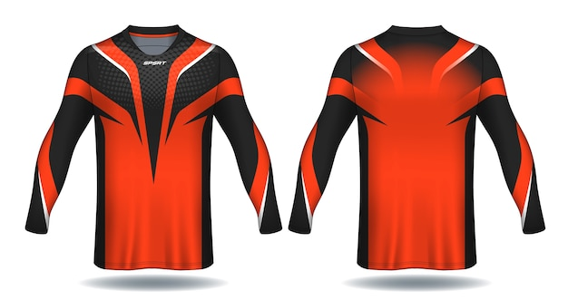 Camiseta de manga larga camiseta de fútbol con diseño de camiseta.