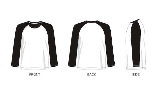Camiseta de manga larga raglán plantilla