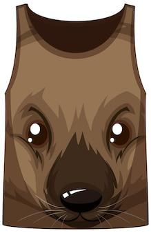 Camiseta sin mangas con estampado de cara de wallaby
