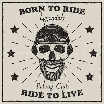 Camiseta moto vintage grunge
