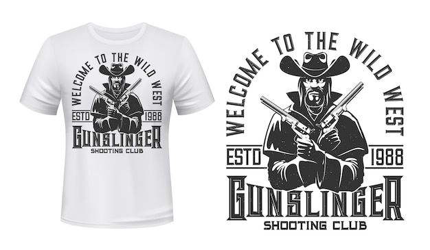 Camiseta con personaje de gángster o bandido