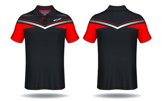 Camiseta de polo de diseño, plantilla de jersey deportivo.