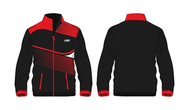 Camiseta polo plantilla roja y negra