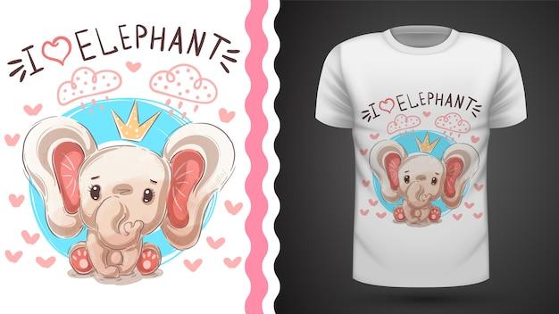 Camiseta princesa elefante