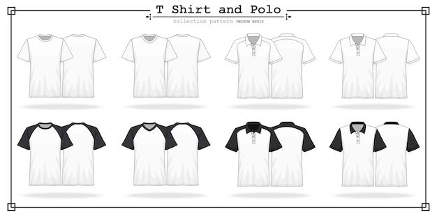 Camiseta redonda y cuello en v