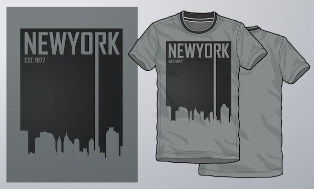 Camiseta y ropa de diseño moderno, tipografía.