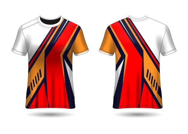 Camiseta sport design camiseta de carreras para la vista frontal y posterior del uniforme del club