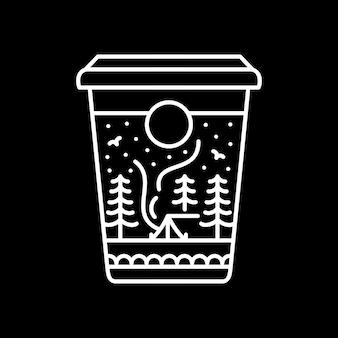 Campamento de cafe