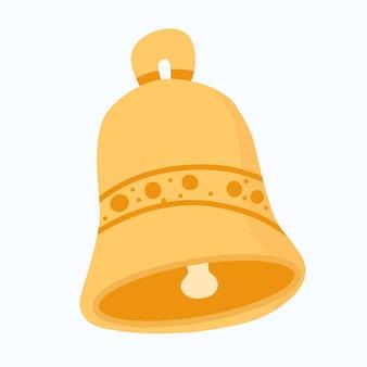 Campana de anillo dibujada a mano. icono de esbozo de campana de timbre para infografía, diseño de concepto. sitio web o aplicación. dibujo vectorial de campana aislado sobre fondo blanco