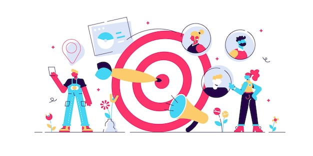 Campaña de atracción de clientes, promoción precisa, negocio publicitario.