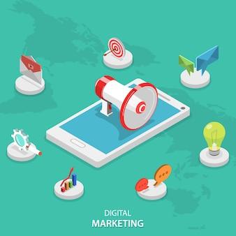 Campaña de marketing digital móvil.