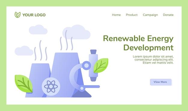 Campaña de microscopio de la estación de energía nuclear del reactor de desarrollo de energía renovable