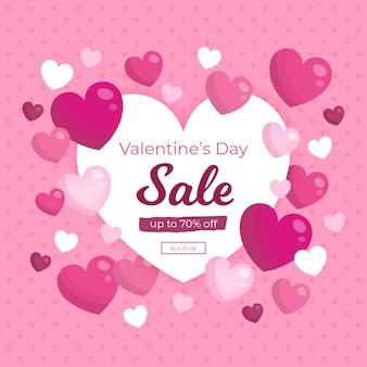Campaña promocional de venta en el día de san valentín