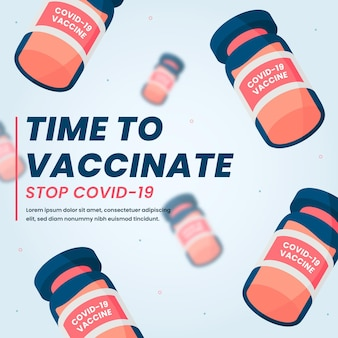 Campaña de vacunación de diseño plano