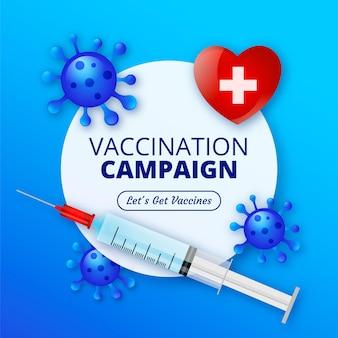Campaña de vacunación de ilustración degradada