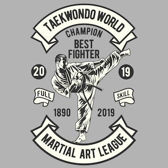 Campeón del mundo de taekwondo