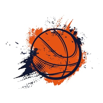 Campeonato de baloncesto o liga de clubes deportivos y jugadores del equipo universitario signo de bola en semitono
